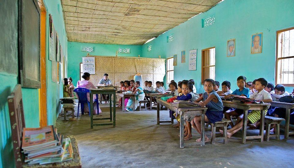 A village school in Assam. (Photo by Michael Foley)