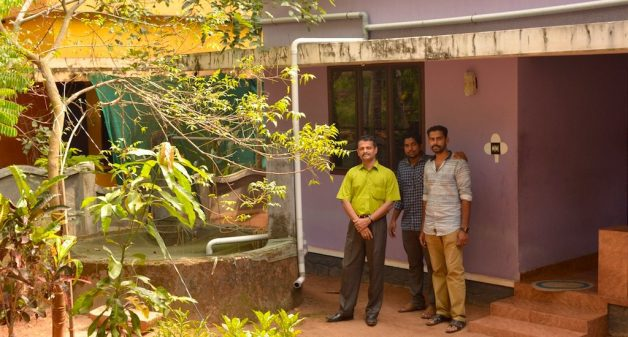 Jos Raphael and his colleagues have implemented the Mazhapolima (Rain Bounty) programme in Thrissur. (Photo by S. Gopikrishna Warrier)