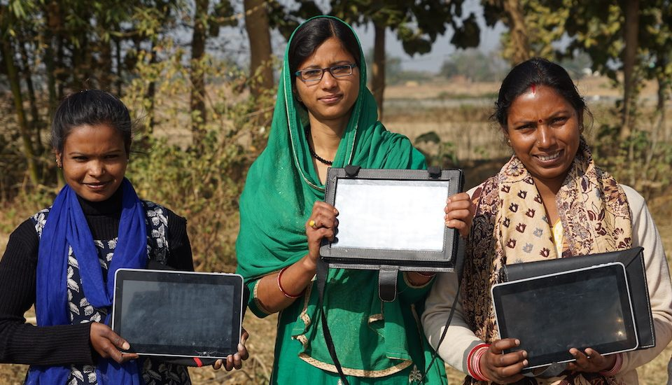 The tablet girls of Ranchi. (Photo by Alok Gupta)