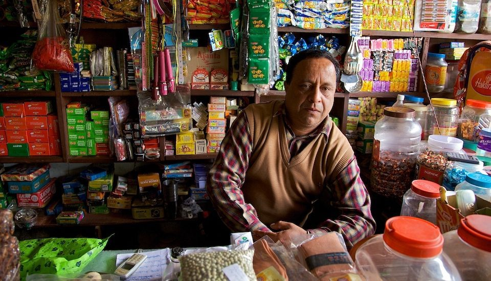 A village shopkeeper in Himachal Pradesh. (Photo by Michael Foley)