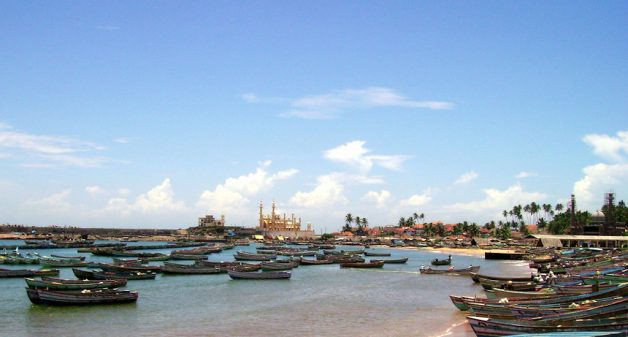 Small boats in Vizhinjam, a busy fishing village in Thiruvananthapuram. (Photo by Syam / Radio Monsoon)
