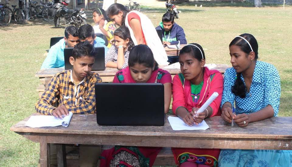 Technology integration helps schoolchildren in rural Assam learn their lessons easily and widen their knowledge. (Photo by Rukmini Manasa Avadhanam)