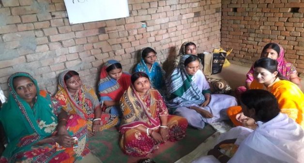 Women of Ilami panchayat learn about health, hygiene and pregnancy care at the night school. (Photo by Chhandosree)