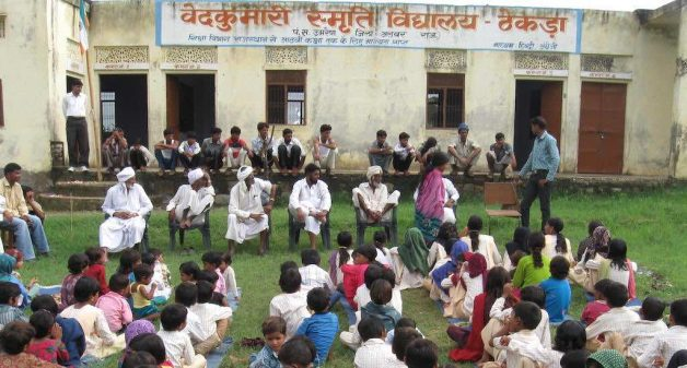 The local school in Thekra village has led to a considerable increase in female literacy. (Photo by Tarun Kanti Bose)