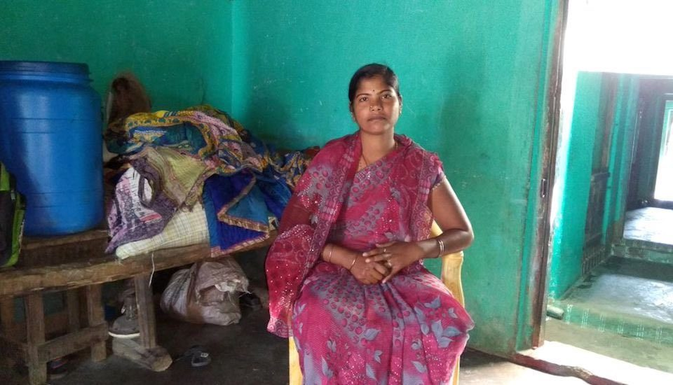 Damayanti Patra has made a mark as a mason in rural Odisha. (Photo by Gram Vikas)