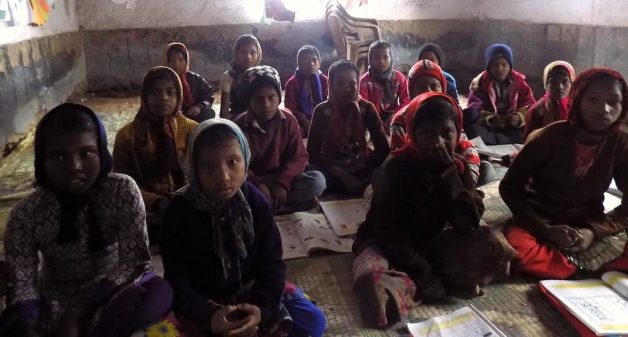 Musahar children studying in a government primary school at Kurkuri Musahari. (Photo by Mohd Imran Khan)