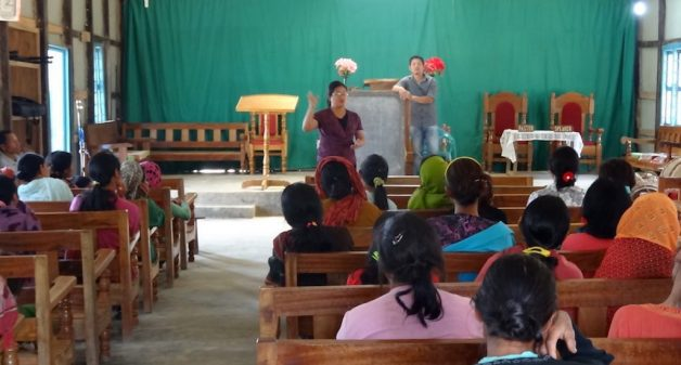 A training session for women in Duiluan village, Nagaland. (Photo by Rongmei Baptist Association)