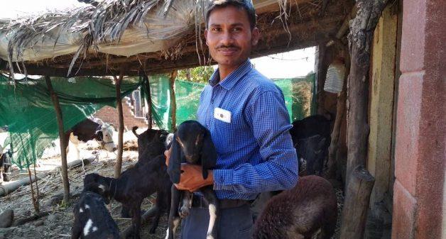 Ramesh Khaladkar has secured new markets for custard apple, using technology. (Photo by Hiren Kumar Bose)