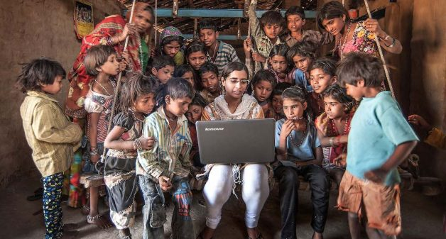 The use of computers and the Internet is not yet widespread in rural areas. (Photo by Chetan Soni)