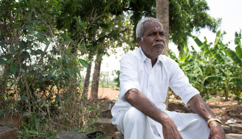 R. Shanmugam, former village council president in Odanthurai, initiated many development schemes (Photo by Sharada Balasubramanian)