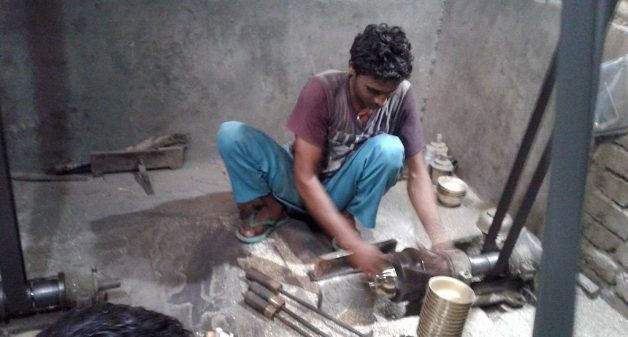 The brass utensil manufacturing units in Parev provide livelihood to many villagers. (Photo by Mohd Imran Khan)