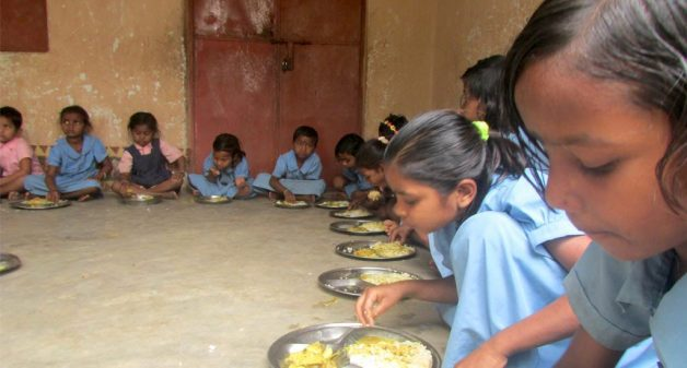 children-having-midday-meal