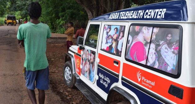 The mobile van that works as occasional hospital for tribal mothers (Photo by Basudev Mahapatra)