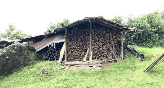 Villagers in Sikkim are dependent on firewood and store it in covered areas during the monsoon months (Photo by Nidhi Jamwal)