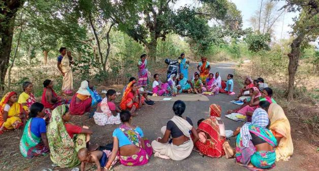 An awareness meeting that helped Munda women air their grievances to government officials (Photo by Tripta Sharma)