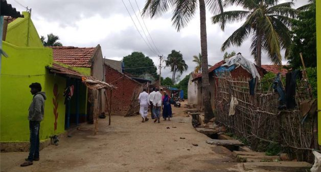 One of the villages where farmers rear Hallikar breed cattle (Photo by Sudha Narasimhachar)