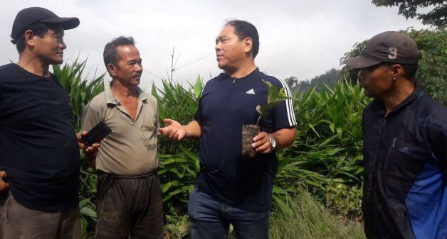 Samuel Rai of the Directorate of Cinchona and other Medicinal Plant is hopeful that coffee would be a better alternate crop for Kalimpong farmers (Photo by Gurvinder Singh)