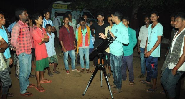 Special initiatives for villagers, such as arrangement for observing celestial events, give them exposure to science (Photo by Manish Mishra)
