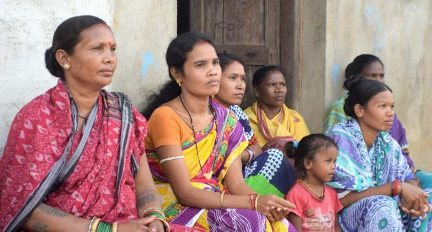 Women farmers of Khasbahal are upset because they farm without benefits of any government scheme (Photo by Basudev Mahapatra)
