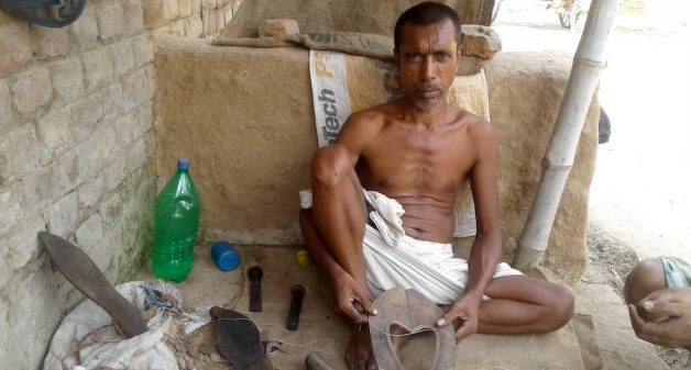 The Chamarkhani shoemakers claim that the traditional shoes have health benefits for the user (Photo by Mohd Imran Khan)