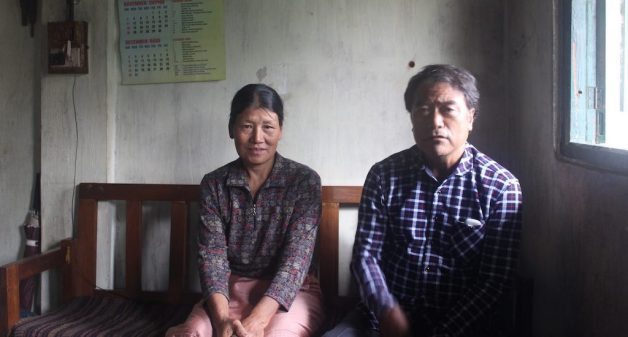 Khrie Khotuo Mor, one of the villagers who initiated the conservation efforts, and his wife Lorheno, see positive impact of the conservation practices (Photo by Ninglun Hanghal)