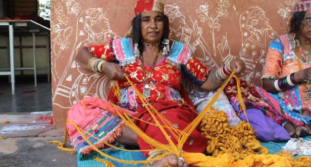 Lambani women such as Somi Bai, who prefer to wear their traditional phetiya-kanchali dress are happy to keep their embroidery tradition alive. (Photo by Amoolya Rajappa)