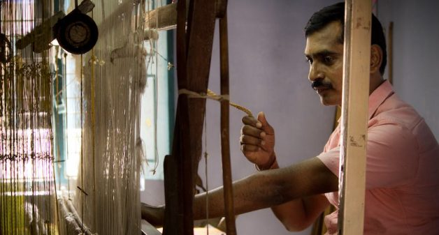 Demand for handloom sarees is decreasing as those woven on power looms are cheaper (Photo by Sharada Balasubramanian)