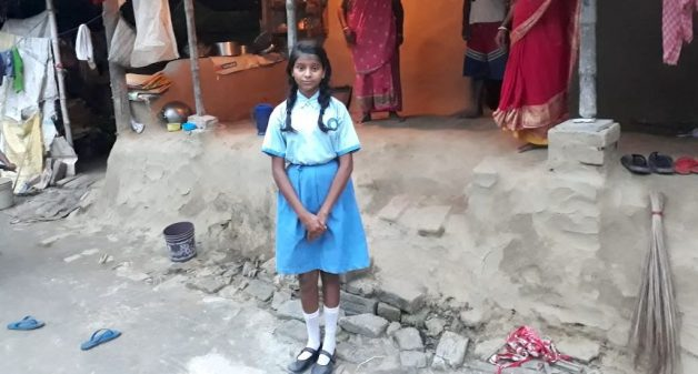 Resuming studies has given hope to 13-year-old Paromita Mondal that she can ensure a better future for her family (Photo by Prahlad Naskar)