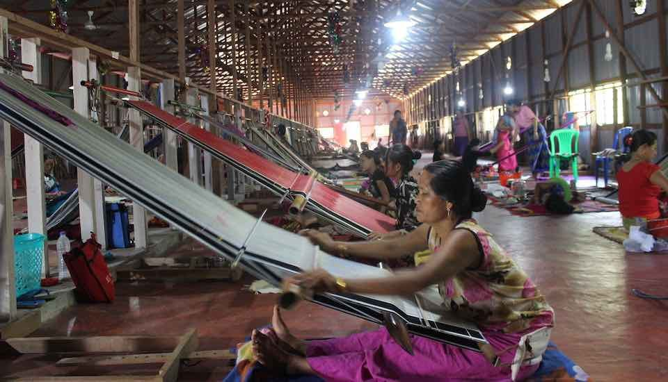 The weaving unit of Langei project in Nongpok Sanjenbam village not only provides employment to the women but also sustains traditional weaving (Photo by Ninglun Hanghal)