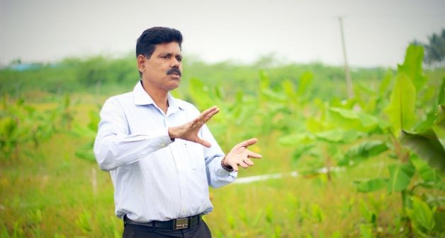 Kumaravelu advocates food forests as the solution to the impacts of climate change and other agrarian problems (Photo by Balasubramaniam N.)