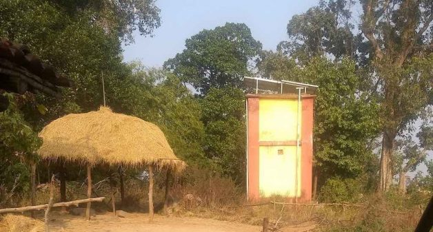 With increased connectivity to the outside world, the Juangs in Khontomara took the initiative to build a water tank to facilitate piped water supply (Photo by Jayapadma RV)