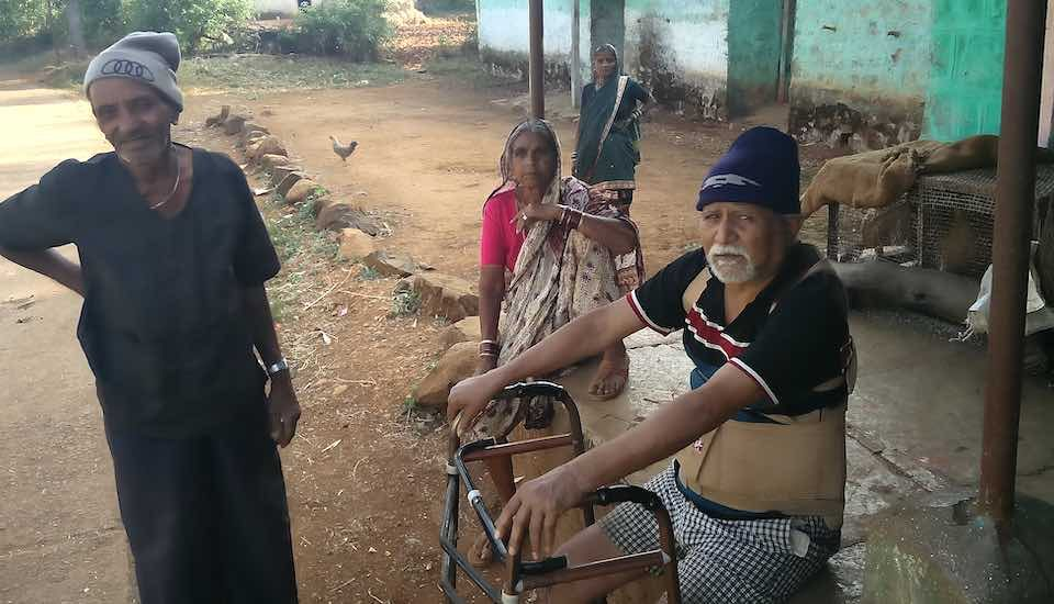 The elderly in villages, like Sakharam Dhendle and Pandurang Dhendle in Ghasir, have severe mobility restrictions and spend substantial amounts on medicine (Photo by Abhijeet Jadhav)