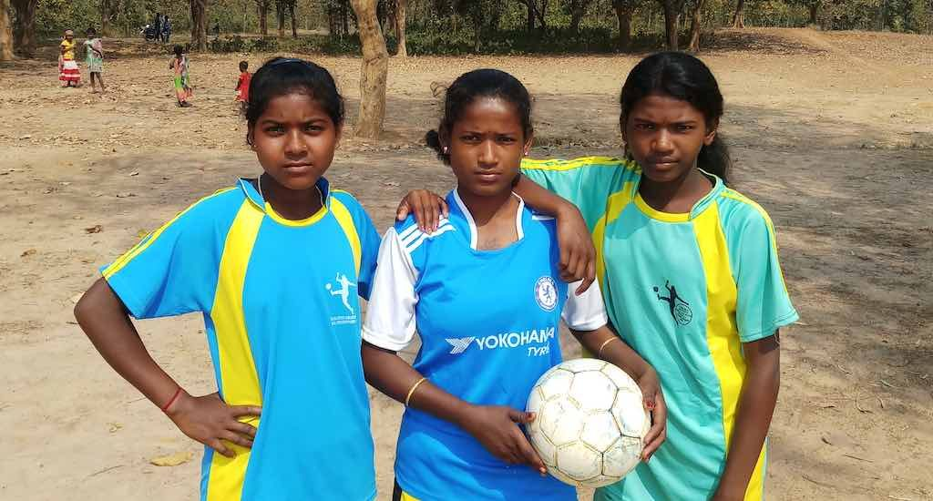 Santhal girls shatter social taboo playing football