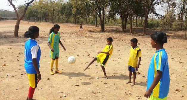 The girls make up for lack of facilities and infrastructure with determination and passion, confident that football will get them better prospects (Photo by Gurvinder Singh)