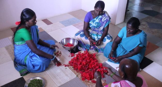 Women make and sell food, healthcare and personal care products from herbs in Puducherry and in nearby villages (Photo by Balasubramaniam N.)