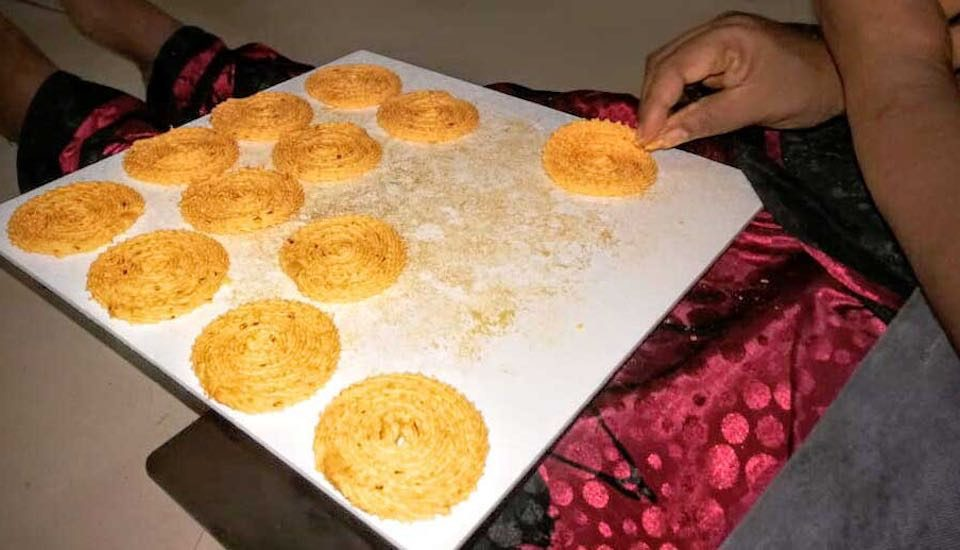 Homemade the traditional way makes the snacks and food items of Kalpathi popular (Photo by Chithra Ajith)