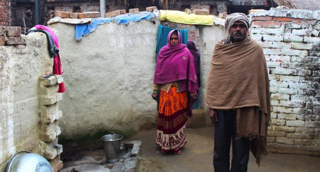 Mula is the principal wage-earner of the family. Her husband Mangu Lal is infirm (Photo by Puja Awasthi)
