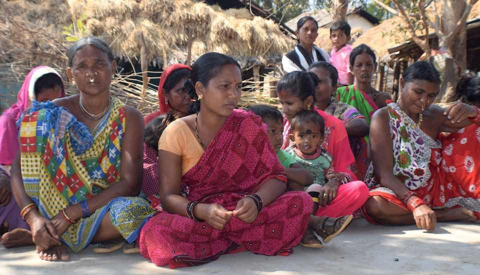 Villagers of Podaguda village in Malkangiri attending the social audit meeting (Photo by Basudev Mahapatra)