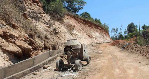 The restoration of ravaged roads and infrastructure in progress in Madikeri taluk (Photo by Amoolya Rajappa)