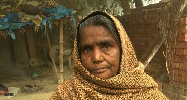 Unable to complete documentation formalities, elderly in rural areas like Asharfi Begum did not get the government's old age pension, till educated youth helped them access it (Photo by Anand Pande)