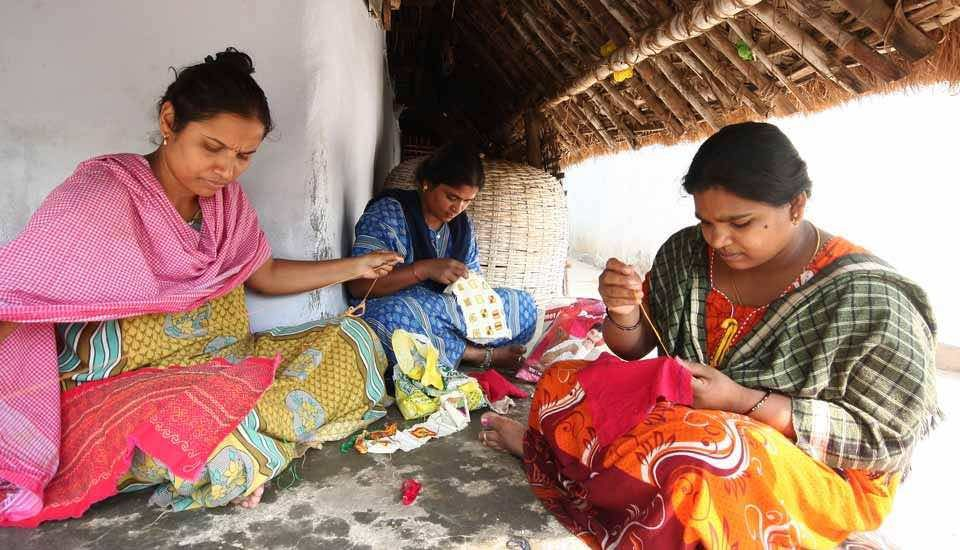 Revival of their traditional embroidery has helped the Lambadi women augment their household income and prevent migration (Photo by Jency Samuel)