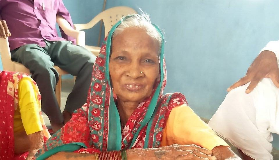 Elder Spring, a community-based public-private initiative to cater to the needs of senior citizens, has improved the physical and mental health of elderly people such as Laxmibai Naitam (Photo by Abhijeet Jadhav)