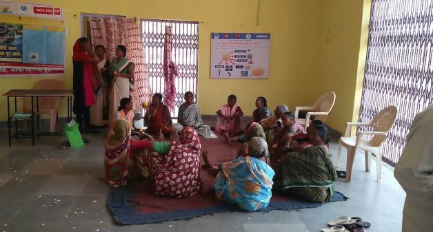 Village Activity Centers, such as the one in Bembad village, serve as a platform for the elderly to gather and get necessary information and therapy from health workers (Photo by Abhijeet Jadhav)