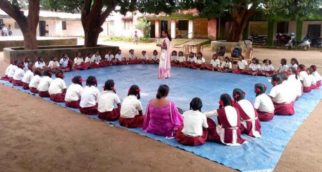 Awareness about menstruation among girls in rural schools helps them discuss their problems without inhibitions (Photo by PHRN)