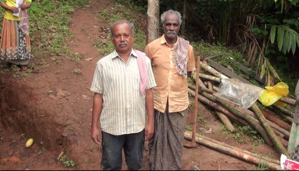 People in the hilly Upputhode village still live in fear of another landslide (Photo by K. Rajendran)