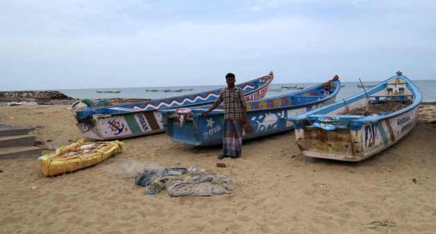 Fishermen like Thevaram Christy of Roachmanagar are more aware of the increased vulnerability of living on the Bay of Bengal coast (Photo by Jency Samuel)