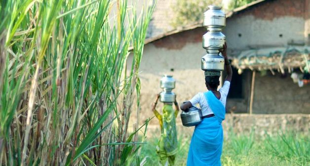 It is invariably the women who are burdened with the task of getting water to rural homes (Photo by Daniel Bachhuber)