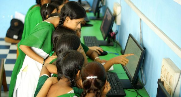 An integrated approach to technology in education helps students from marginalized sections create projects within the local context (Photo by Tata Trusts)
