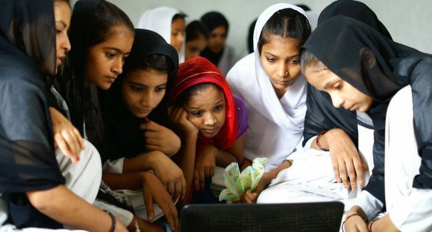 Technology in education can have a multiplier effect by helping students learn, while lending itself for scaling at reduced costs (Photo by Tata trusts)