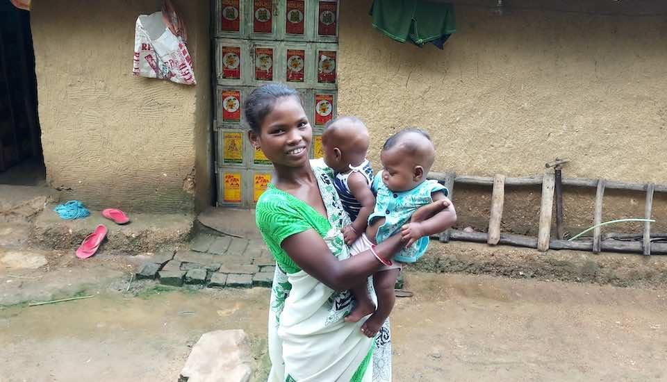 Participatory learning and action meetings have helped participants like Saraswati Bodra take care of the nutrition needs of her twin sons and that of herself before and after delivery (Photo by Gurvinder Singh)